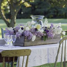 great centerpiece for rehearsal dinner, would be beautiful with live plants as well.
