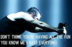 Nine Inch Nails. With lyrics from one of my favorite songs.