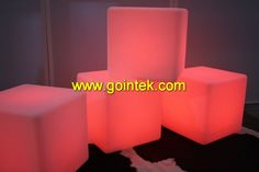 Plastic Led Cube With Illuminated Color Changing Light,LED Cube Chair Lamp