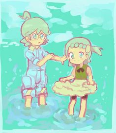 Clemont and Bonnie ♡ I give good credit to whoever made this