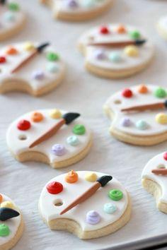 Fondant Art Palette Cookies on Sweetopia