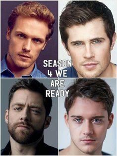 W are so ready for these amazing Lads Outlander Quotes, Outlander Casting, Sam Heughan Outlander, Outlander Series, Outlander 2016, Lord John, Richard Rankin, Drums Of Autumn, Actor