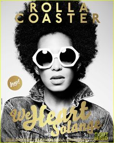 Solange Knowles: Beyonce 'Is Such A Role Model'. Solange Knowles rocks a pair of oversized shades on the cover of UK's Rollacoaster