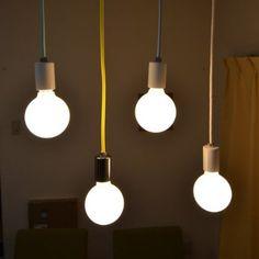 Amazon.co.jp: ペンダントライト SHICK シック コードソケット カラーコード 裸電球 1灯 CPL-1281-GBL(ゴールドソケット+ブルーコード): ホーム&キッチン