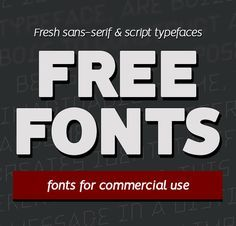 Free Fonts – 17 New Fonts For Designers #freebies #FridayFreebie #FreebieFriday #freefonts #CommercialFree #typeface #scriptfonts #sansserif #handwritten