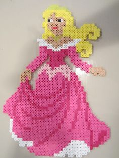 Princess Aurora perler beads by perlerbeadcrafts