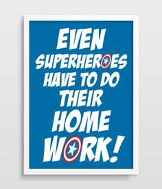 Kids Wall Decor Superhero Art Superheroes by TheWatermelonFactory