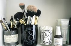 chic way to store bathroom essentials and make up!