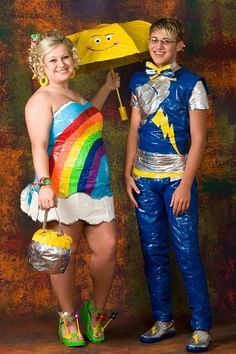 Pretty in Plastic - Epic Prom Fashion Fail ---- funny pictures hilarious jokes meme humor walmart fails
