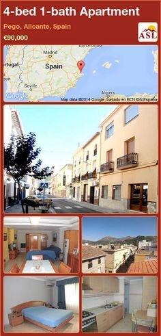Apartment in Pego, Alicante, Spain Apartments For Sale, Aluminium Windows, Alicante Spain, Storage Room, Terrace, Mansions, Bathroom, House Styles
