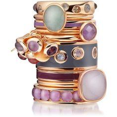 Astley Clarke Colour Cadenza Milky Aqua Ring ($115) ❤ liked on Polyvore