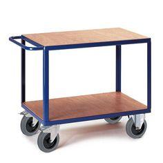 GTARDO.DE:  Tischwagen 2 Ladefläche, Tragkraft 600 kg, Ladefläche 850x500 mm, Maße 1000x500 mm 242,00 €