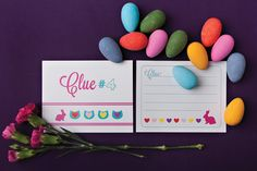 Chrystalace Wedding Stationery Easter Clue Cards Free Printable10