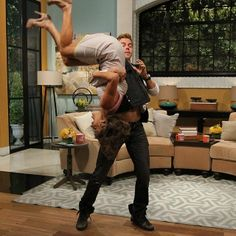 Derek dancing with Kit Hoover on Access Hollywood Access Hollywood, Man Crush Everyday, My Point Of View, Derek Hough, Living Legends, My Man, Crushes, Dancer, Flipping