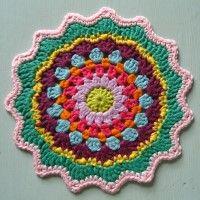 Crochet Mandala Wheel made by Andrea, Germany, for yarndale.co.uk   ... *  ♡