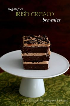 Low Carb Irish Cream Brownies - with homemade sugar-free Bailey's Irish Cream!