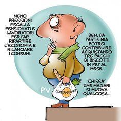"""ITALIAN COMICS - """"Il Mondo in una vignetta"""" di Pietro Vanessi: Un aiuto alla ripresa economica…"""
