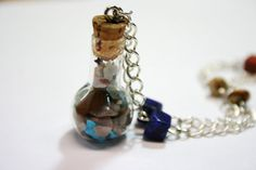 Genuine Mixed Gemstones in a small glass bottle by TRLTJewelry