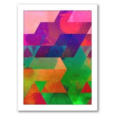 Dress up your living space with this colorful Americanflat Geometric framed wall art. Colorful Wall Art, Geometric Shapes, House Colors, Framed Wall Art, Picture Frames, Graphic Art, Prints, Artist, Painting