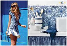 Porcelain print: fashion x decor #fashion #porcelain #decor #casadasamigas
