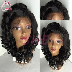 High Quality Brazilian Hair Glueless Full Lace Wig & Lace front Wig with Baby Hair 2016 Fashion Loose Wave Style Online with $72.88/Piece on Sheladyhouse's Store | DHgate.com