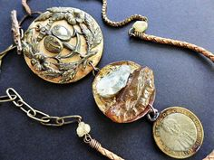 Rustic assemblage necklace by fancifuldevices, artisan jewelry