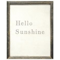 hello sunshine | sweetpraises.com