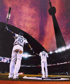Rogers Centre - Edwin Encarnacion & Jose Bautista. Toronto Blue Jays. MLB. Baseball.