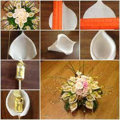 How To Make Callas Candy Flower Step By DIY Tutorial Instructions