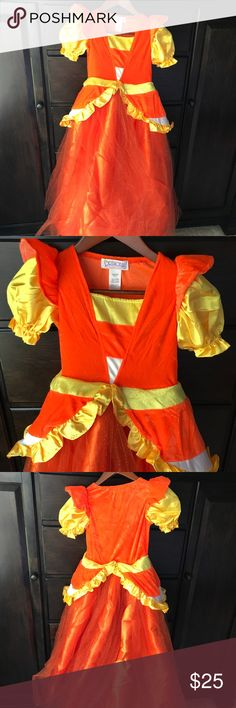 New!  Candy corn witch costume with hat! Sz 8 Excellent costume!!  Size 8 costume, brand new, with matching candy corn hat!! Costumes Halloween