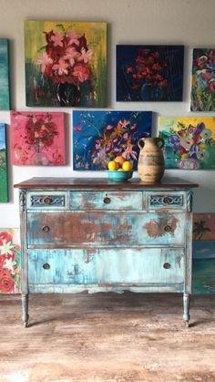 A personal favorite from my Etsy shop https://www.etsy.com/listing/517484194/aqua-blue-antique-dresser