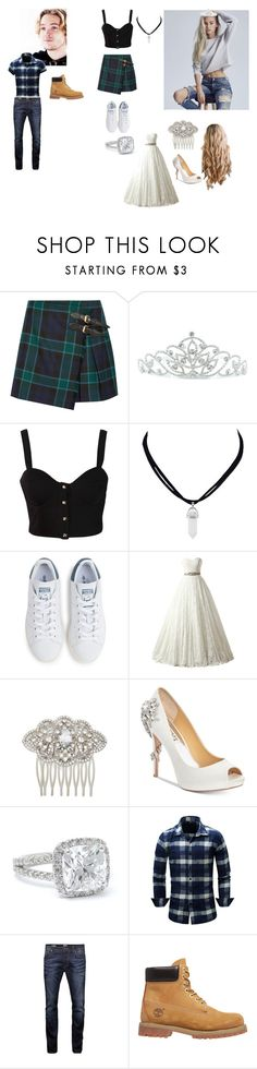 """""""Auradon Intro: E.J. and Eugenie Fitzherbert"""" by queen-p-bxtch ❤ liked on Polyvore featuring Burberry, Kate Marie, Rare London, adidas, Nina, Badgley Mischka, Jack & Jones and Timberland"""