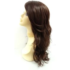 Long 18 Inch Brown Wavy Wig With Premium Heat Resistant Fiber... ($50) ❤ liked on Polyvore featuring beauty products, haircare, hair styling tools, bath & beauty, grey, hair care, wigs, curling iron, hair blow dryer and hair dryer curling iron