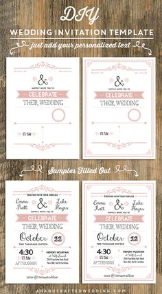 Download and customize this DIY Rustic Chic Wedding Invitation, and then print as many copies as you need! | ahandcraftedwedding.com #diy #invitations
