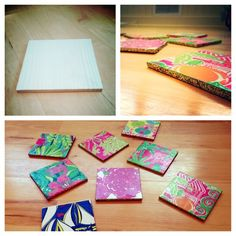 DIY Lilly Pulitzer coasters!