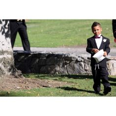 Terrific and excited ring bearer on his way to the ceremony site, San Bernardino Ca