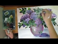 Pintar hortencias al oleo