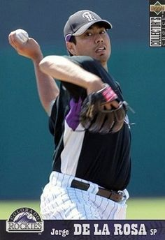 Jorge De La Rosa Colorado Rockies, Mlb, Baseball Cards, Sports, Pink, Hs Sports, Sport