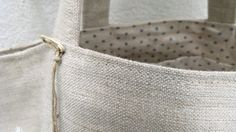French Blue Dots lined linen bags in Peony and Sage Fabrics made by Ana & Cuca available online shortly!