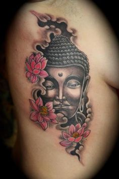 Side Buddha Religious Tattoo by Mito Tattoo