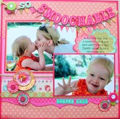 How sweet is this page?  Fun, bright and the title is definitely going to find it's way onto a future layout of my own!