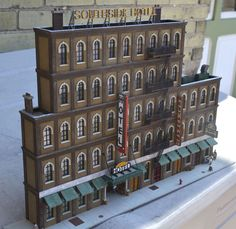 The Southside Hotel, from Imagine That Laser Art. Photo and modeling by Greg Shinnie.