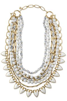 Stella & Dot White Stone Sutton Necklace - wear it 5 ways!  shop this Stella and Dot accessory at stelladot.com/nicolecordova