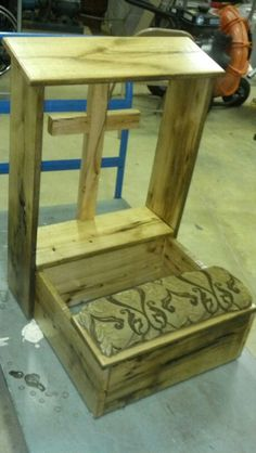 Barnwood prayer bench
