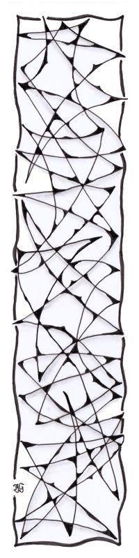 bladwijzer 12 Bookmarks, Zentangle, Abstract, Artwork, Work Of Art, Summary, Zen Tangles, Zentangles, Book Markers