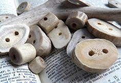 Make deer antler buttons (and toggles/beads too, from the look of the photo!). I'm sure I've seen deer antlers for sale somewhere around here, can't remember where for the life of me though.