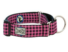 RC Pet Products 112Inch All Webbing Martingale Dog Collar Large Pink Buffalo Plaid *** You can get additional details at the image link.