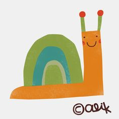 studio aliQue: how to draw a cute snail