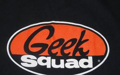 GEEK SQUAD Black SCREEN LOGO T-SHIRT Computer Nerd HALLOWEEN COSTUME Men XL