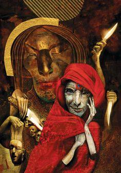 Dave McKean illustrates American Gods